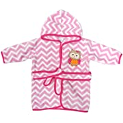 Neat Solutions Extra Soft & Warm Hooded Baby Bathrobe, Curious Owl, 0-9 Months