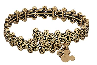 2ade11395 Image Unavailable. Image not available for. Color: Disney Parks Mickey  Mouse Filigree Wrap Bracelet by Alex and Ani ...
