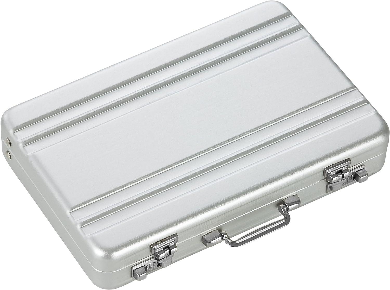 Tragbar Mini Aluminium Aktentasche Visitenkartenhalter Etui Geeignet Koffer