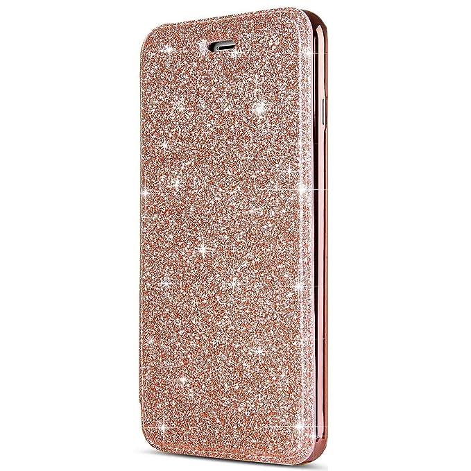 4 opinioni per Surakey Cover Compatibile con iPhone 7 Plus/8 Plus Glitter Bling Flip