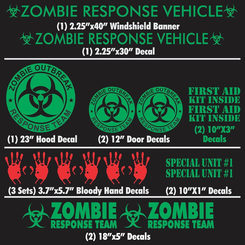 Zombie Outbreak Response Unit Mini Cooper decal Custom vinyl sticker