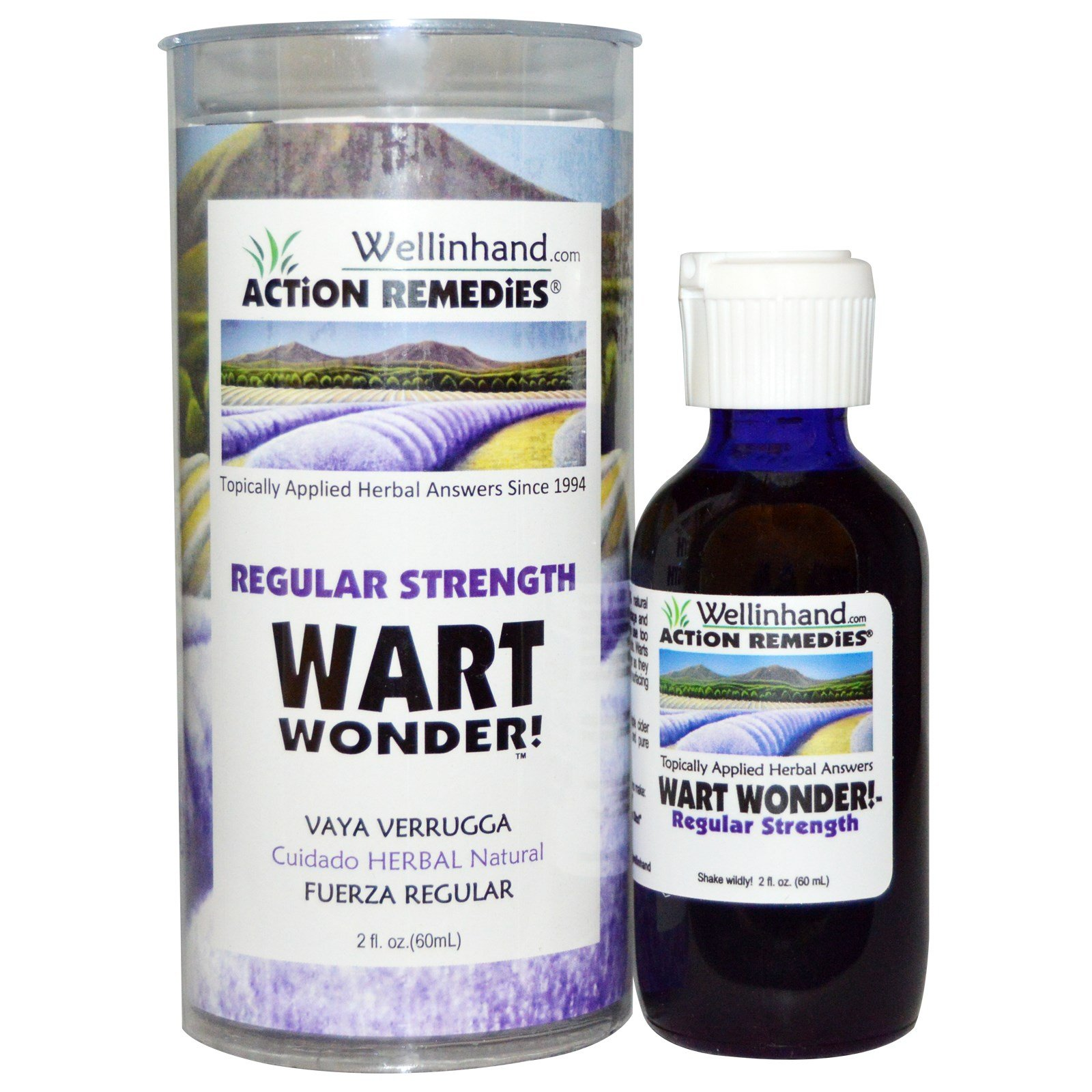 Wellinhand Action Remedies, Wart Wonder, Regular Strength, 2 fl oz (60 ml) - 3PC