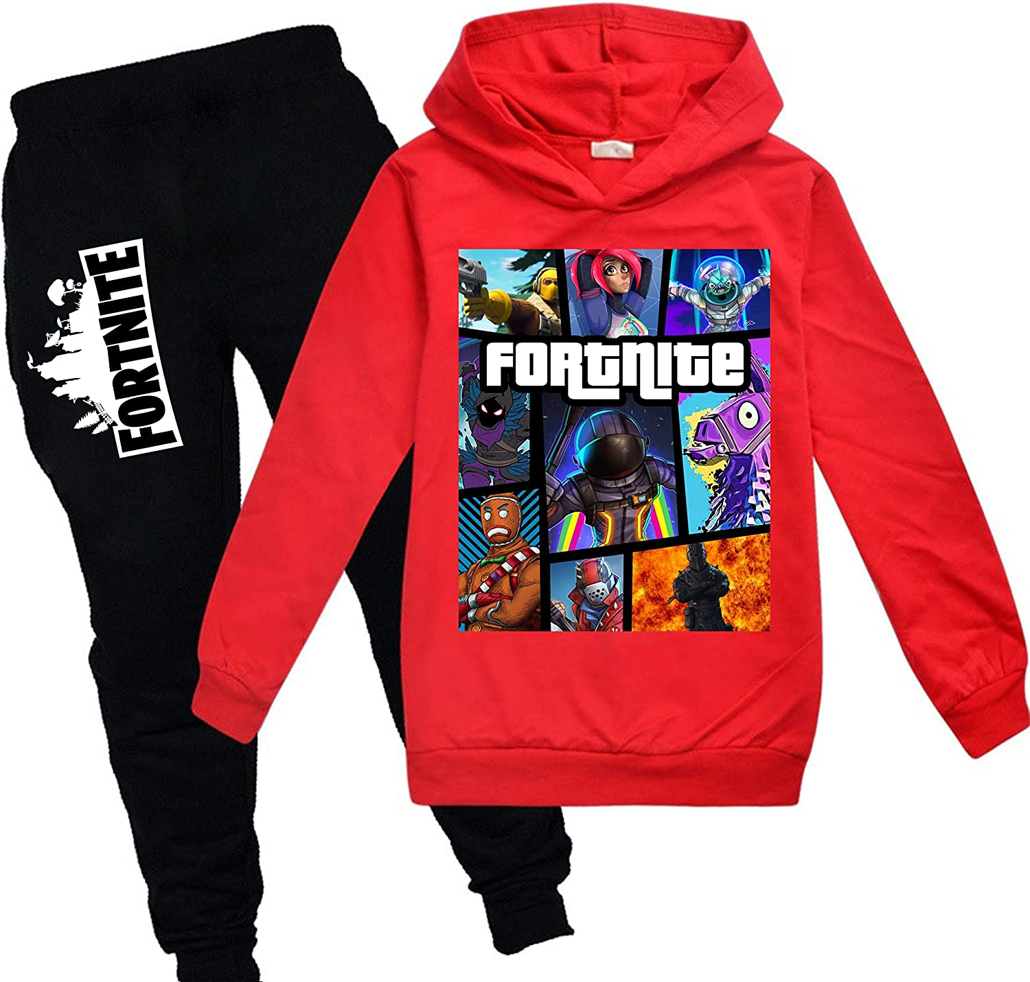 Kids Fortnite Pullover Hoodie and Sweatpants Suit for Boys Girls...