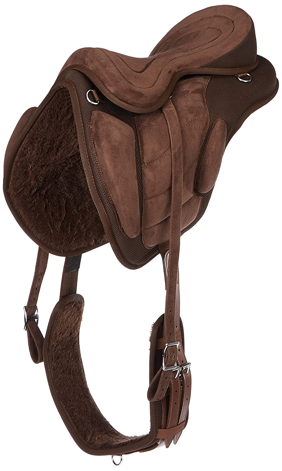 Cwell Equine New Synthetic All Purpose Treeless Saddle BROWN Sizes 16'/16.5'/17' 17.5'