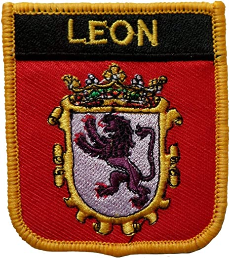 1000 Banderas Leon España Escudo Bordado Parche Insignia: Amazon.es: Hogar