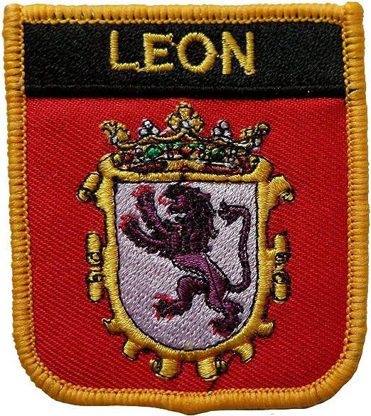 1000 Banderas Leon España Escudo Bordado Parche Insignia: Amazon ...