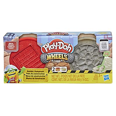 Play-Doh Wheels Brick and Stone Buildin' Compound 2-Pack of 8-Ounce Cans: Toys & Games