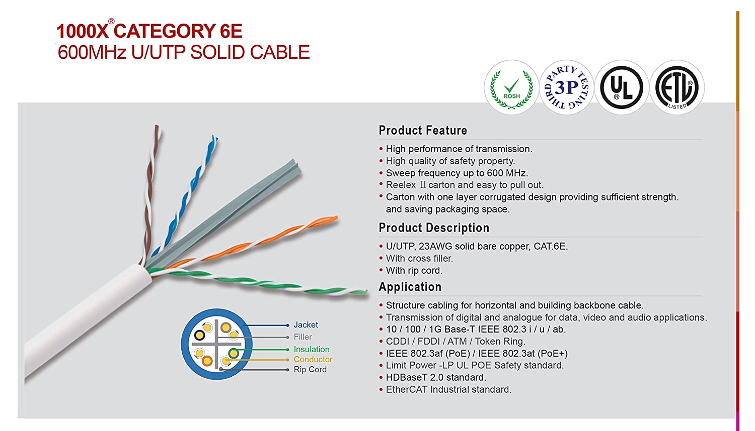 Amazon infinity cable cat6e plenum 600mhz cmp 23awg utp solid amazon infinity cable cat6e plenum 600mhz cmp 23awg utp solid 100 pure copper 1000 feet easy to pull reelex ii box green computers accessories pooptronica