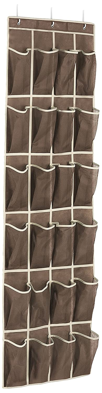 Whitmor 6351-1253-JAVA Fashion Color Organizer Collection Over the Door Shoe Organizer, Java