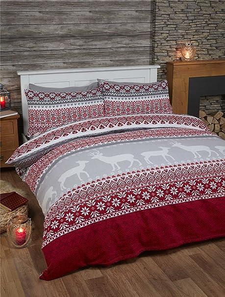 Alpine Patchwork 100/% Brush Cotton Flannelette Duvet Set Single Cheapest On