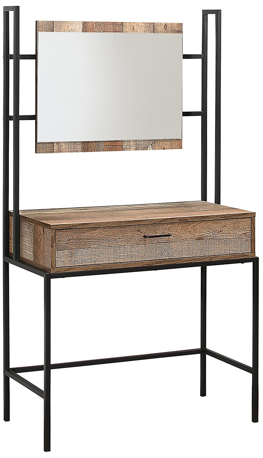 Birlea Urban Dressing Table and Mirror, Wood, Rustic Birlea Furniture URBDTMRUS