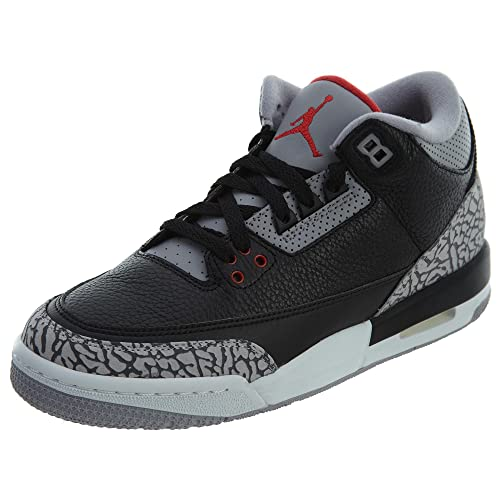 76c994d802bd48 Nike Air Jordan 3 Retro Gs 001.BLK RED GREY WHT 6  Amazon.ca  Shoes    Handbags