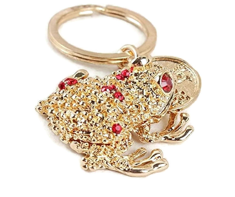 Amazon.com  Toad Frog Plutus Coins Crystal Rhinestone Keyring Car Handbag  Pendant Charm Key Chain Gift a415ef2bf