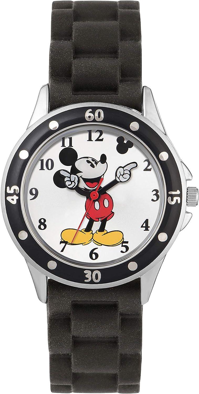 Mickey Mouse Reloj Analógico para niños de Cuarzo con Correa en Caucho MK1195