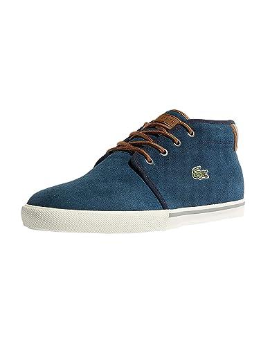 f81f708883 Lacoste 736CAM0004NT1 Chaussures de Sport pour Homme avec Fonction  Ortholite en Daim - Bleu - Bleu