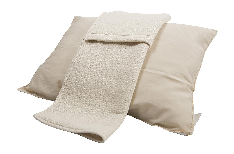 有機ゴム枕、すべての自然& 100 % Certified、洗濯機可、自然抗菌&低刺激性、調整可能なW /ナイロンファスナー、3年間保証、理想的なすべてSleepers 標準 ホワイト 646437479455 B01M6ZN98E  標準