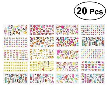 STOBOK Pegatinas para Niños Pegatinas de Dibujos Animados 3D para ...