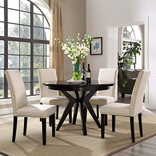 Modway Parcel Modern Upholstered Fabric Four Dining Chairs