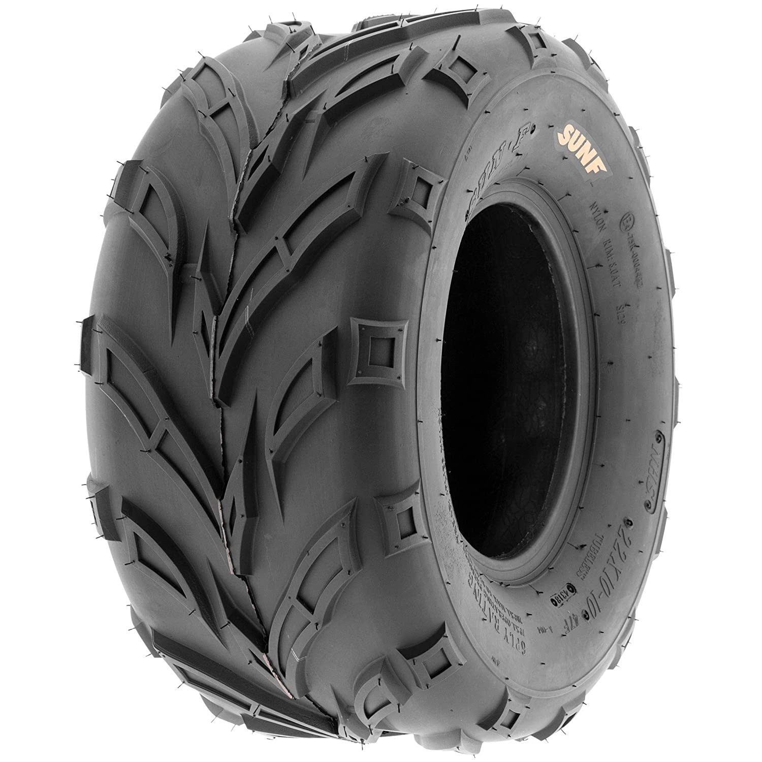Set of 2 SunF 16x7-8 16x7x8 ATV UTV A//T Sport Trail Replacement 6 PR Tubeless Tires A004,
