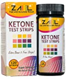 ZAEL Ketone Test Strips, 120 Strips + Free Low Cab One Week Meal Plan (8x11)