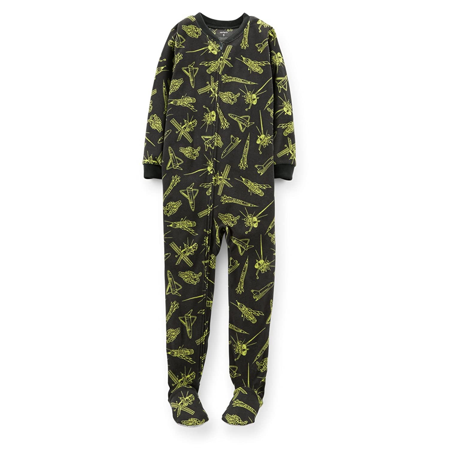 f85985bcd Amazon.com: Carter's Big-Boys 1-pc. Fleece Footed Sleeper Pajamas (4, Space  Astronaut/Rockets): Clothing