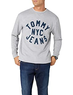 Tommy Jeans Hombre Essential Graphic Crew sudadera Manga Larga
