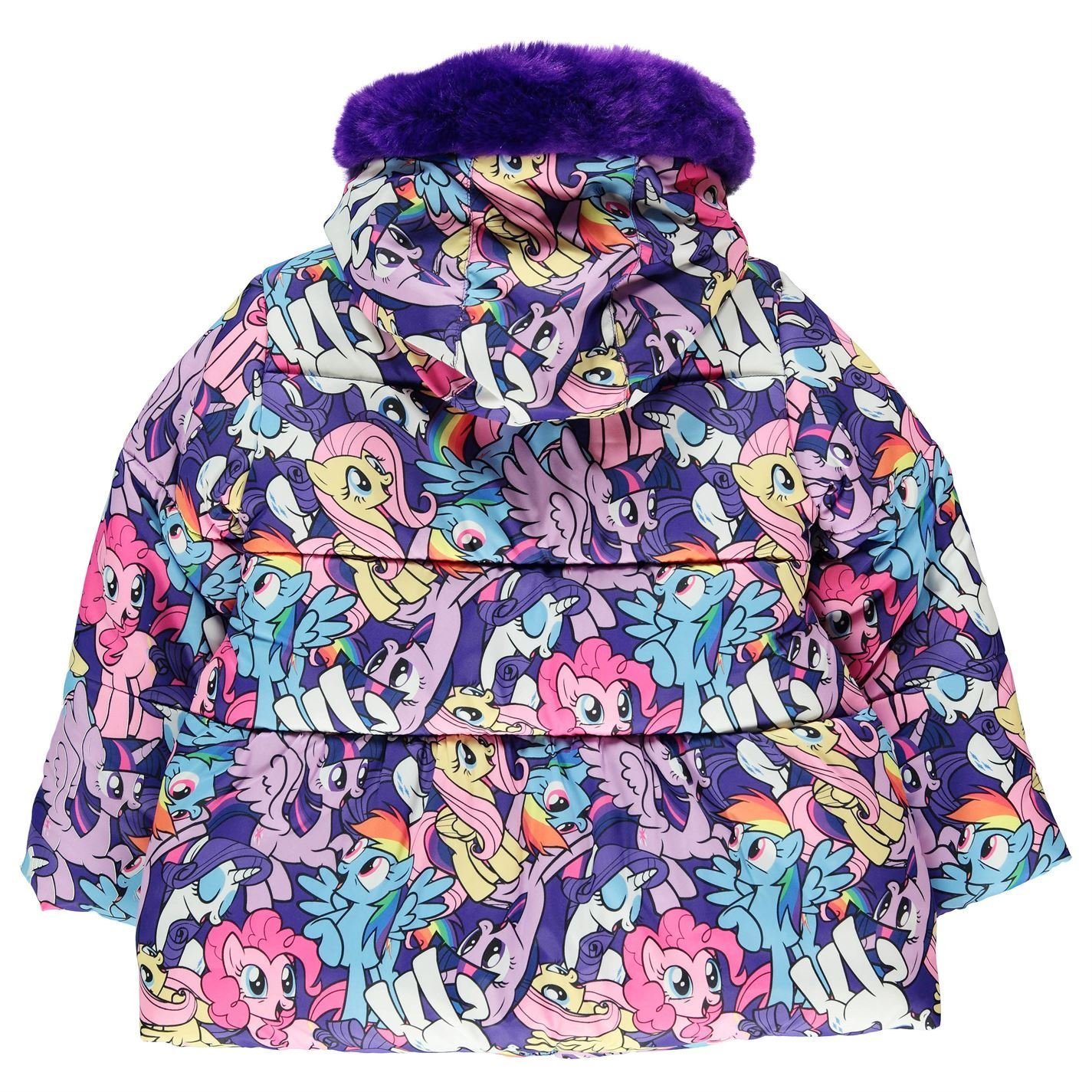 9b7c045c9ef1 My Little Pony Padded Coat Infant Girls Purple Jacket Outerwear 2-3 ...