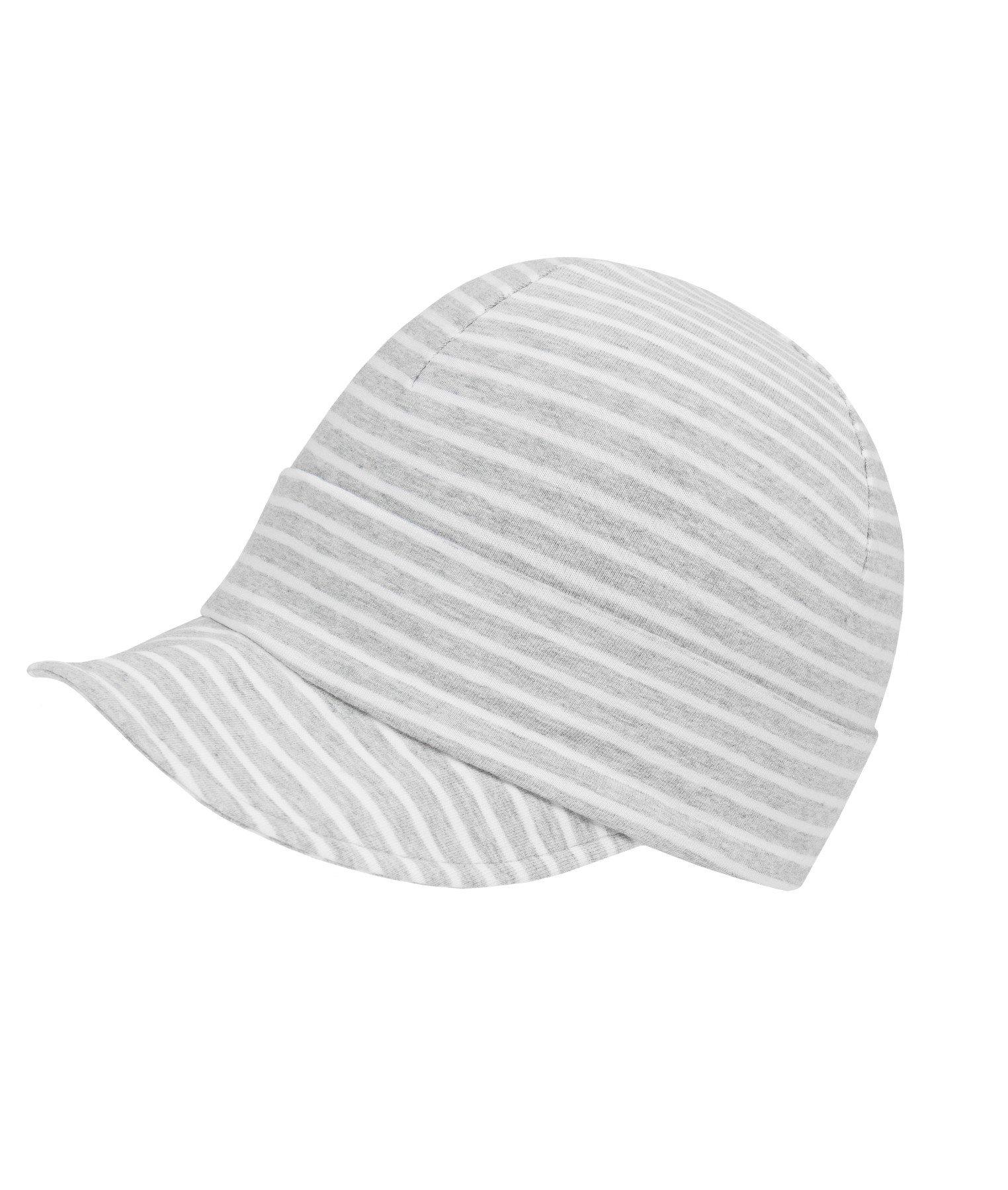 34-44 Mütze Weiße Baby Kinder Haube Mützchen elastisch Häubchen Gr
