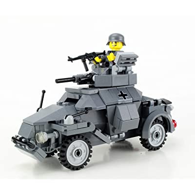 Battle Brick German WW2 Armored Car Custom Set: Toys & Games