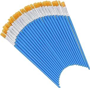 Pincel Plano Azul (Pack de 50) - Tamaño 17cm de Largo x 6mm de ...