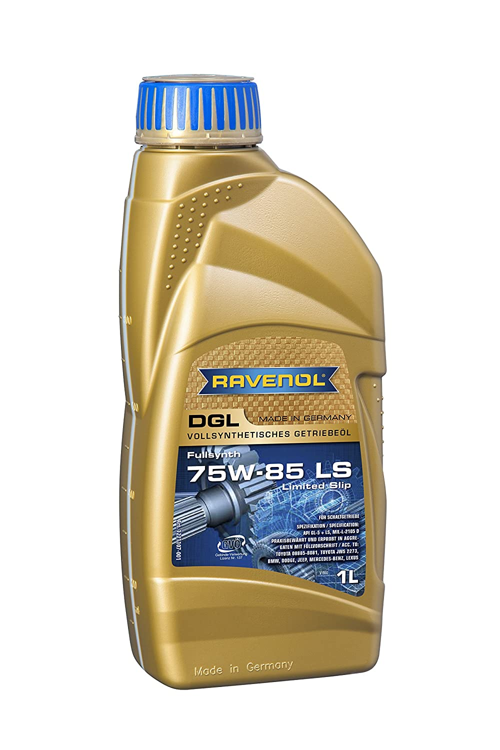 Ravenol j1 C1144 – 001 SAE 75 W-85 Gear Oil – DGL Full Synthetic API gl-5 LS (1リットル) B071JVBHLM