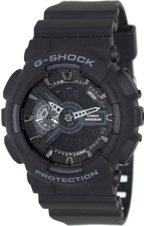 Casio G-Shock X-Large Display Stealth Black Watch (GA110-1B) - Water and Shock Resistant