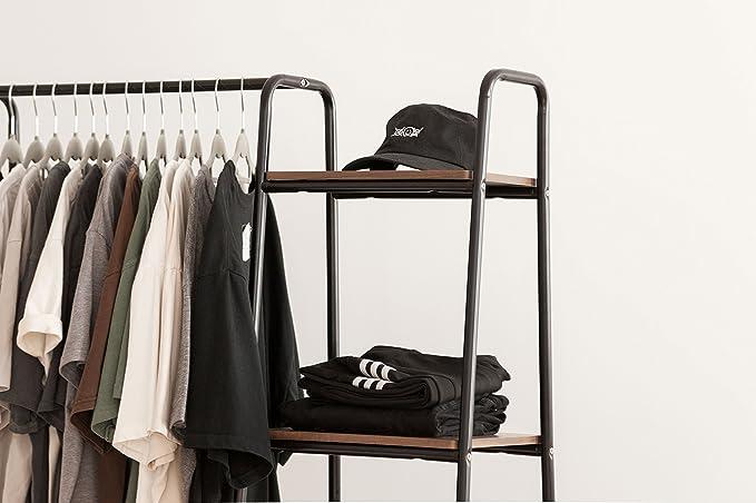 Amazon.com: IRIS USA Estantería de metal para ropa, estantes ...