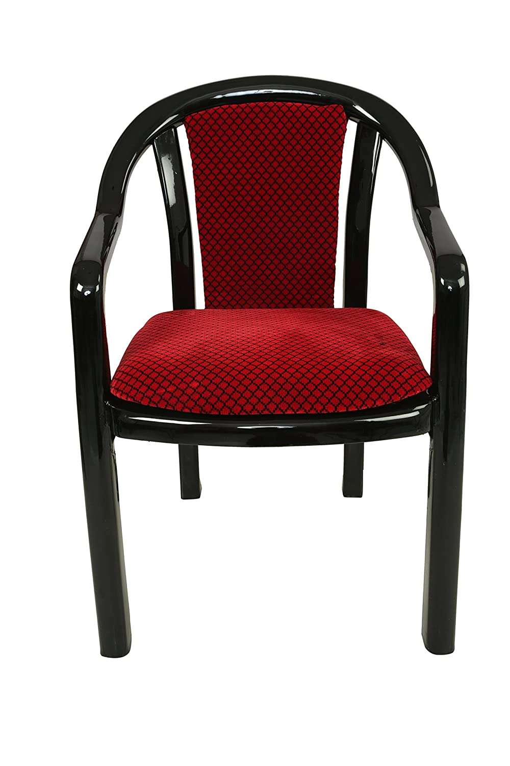Chair. Supreme Ornate Set Of 4 Chairs (black And Red): Amazon.