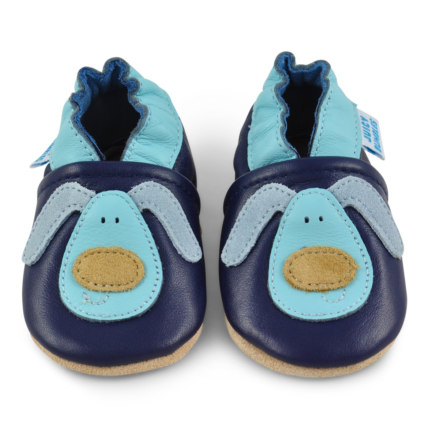 Soft Leather Baby Boy Shoes - Baby Shoes with Suede Soles - Dog 12-18 Months by Juicy Bumbles (Image #2)