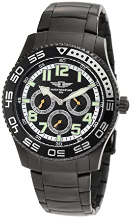 Invicta Mens 43658-006 Black Dial Black Ion-Plated Stainless Steel Watch