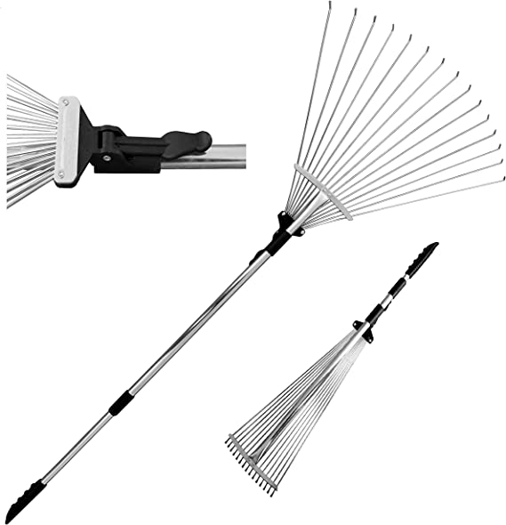 TABOR TOOLS J16A Telescopic Metal Rake - Best Raking Options