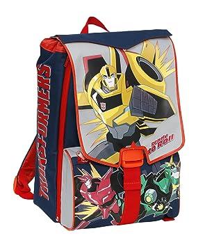 Giochi Preziosi - Transformers Mochila Escolar ampliable, con el brazo mecánico en Homenaje: Amazon.es: Equipaje