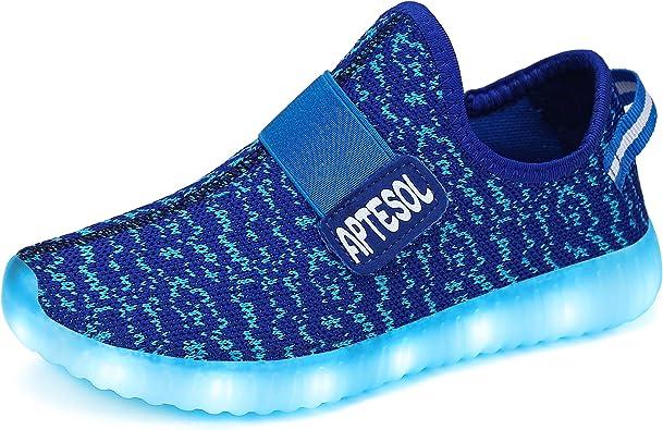 APTESOL Kids LED Light Up Shoes Unisex