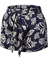 J.TOMSON Womens Tribal Printed Elastic Drawstring Waist Shorts With Pockets