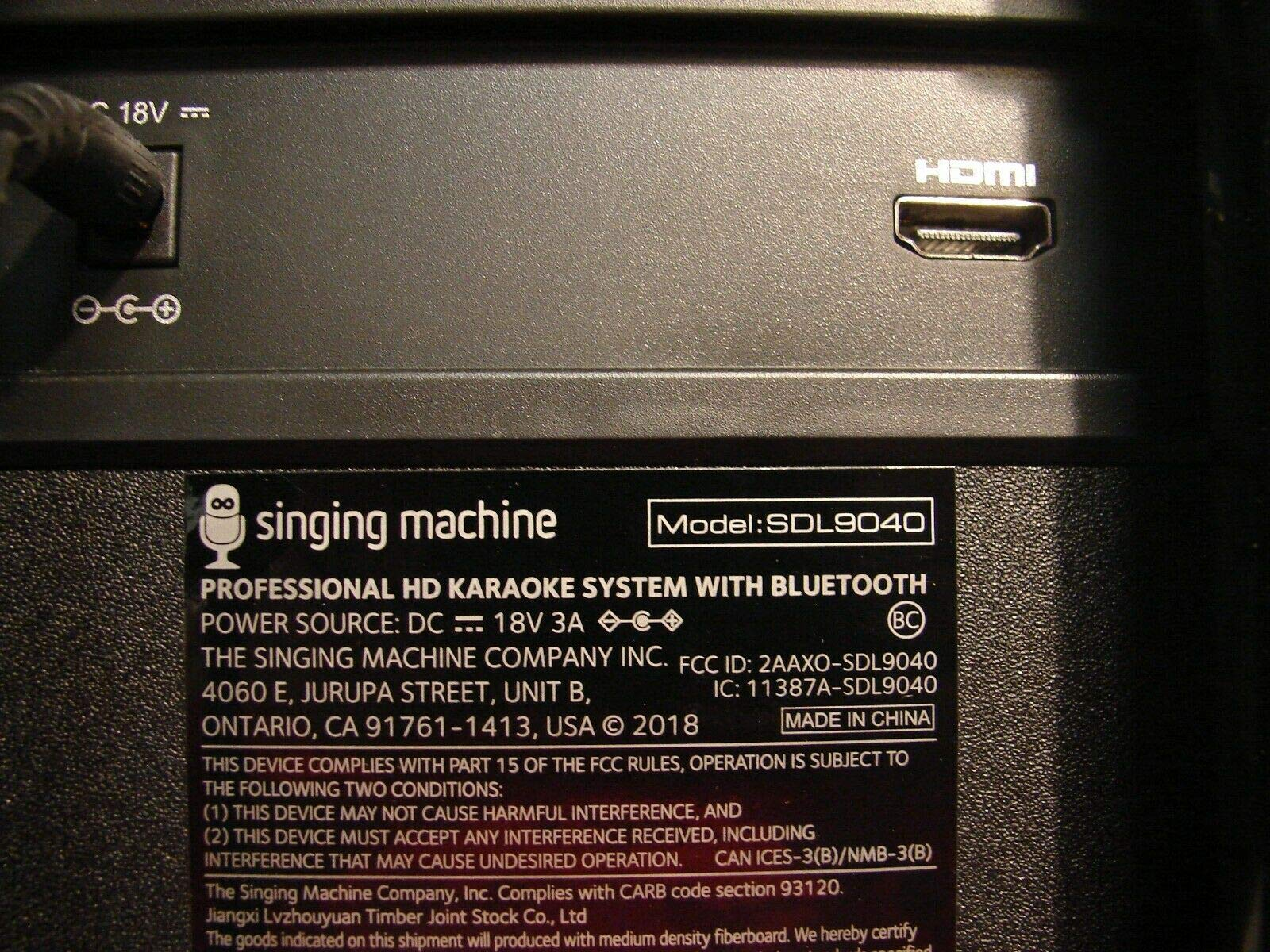 Amoldar 5inging Machine Fiest@ Voice Hi-Definition Karaoke System SDL9040 by Amoldar (Image #5)