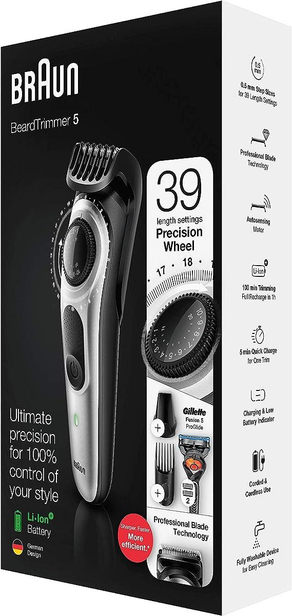 Recortadora de Barba BRAUN BT5260: Amazon.es: Salud y cuidado personal