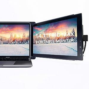 Trio Max Portable Monitor for Laptop, 14.1