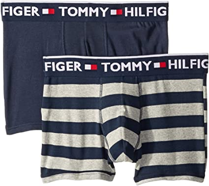 3b48299e194a9d Tommy Hilfiger Men's Bold Cotton 2-Pack Trunks at Amazon Men's Clothing  store:
