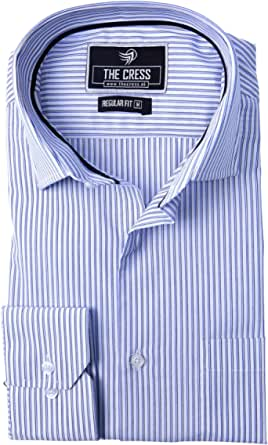Camisa para Hombre de algodón Puro con Rayas Blancas y ...