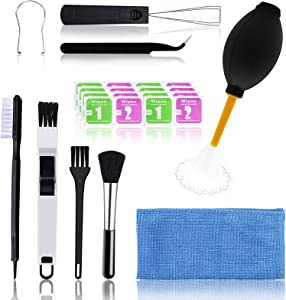 (Set of 10) Durable Keyboard Cleaning Kit,Computer PC Laptop Electronics Cleaner, keycap Puller, Anti- Static Brush Small Cleaning Brush and Wipe Kit