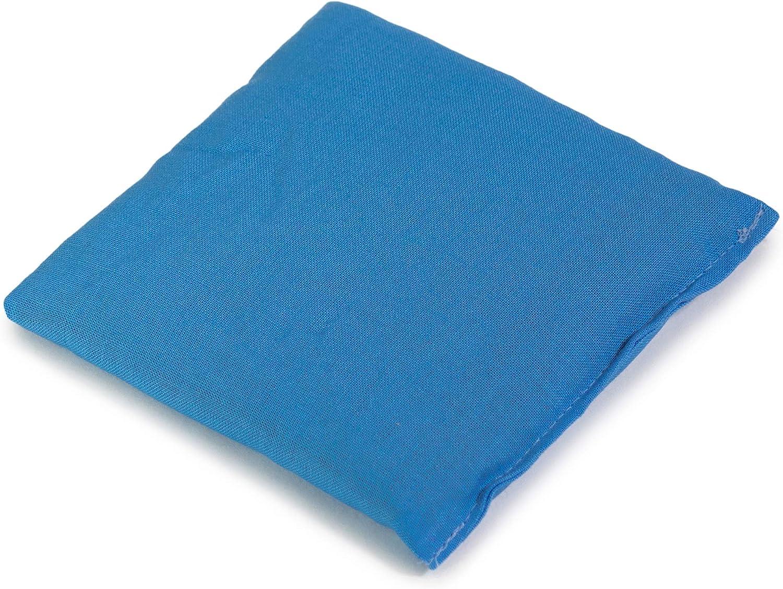W/ärmekissen /& K/ältekissen K/örnerkissen Dinkelkissen 12x12cm hellblau