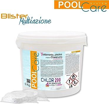 Cloro Pastillas Piscina Pool Care 200 4 Azioni 5 kg. Oferta ...