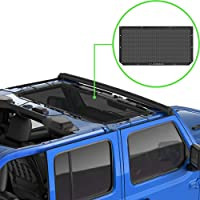 Alien Sunshade Jeep Wrangler JL & JLU (2018-2021) – Front Mesh Sun Shade for Jeep JL Unlimited - Blocks UV, Wind, Noise…