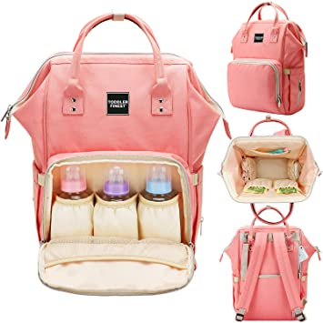 c30d2e0d21e5 Designer Diaper Bag Backpack - Travel Organizer Tote Nappy Baby Bags for  Girls & Boys -...